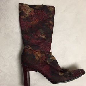 Floral Leather Boots